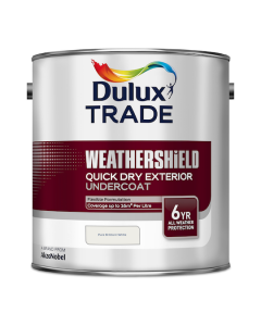 Dulux Trade Weathershield Quick Dry Exterior Undercoat Pure Brilliant White 2.5L