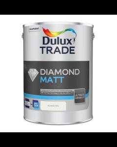 Dulux Trade Diamond Matt Emulsion Paint Pure Brilliant White 5L
