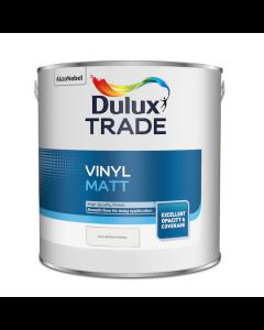 Dulux Trade Vinyl Matt Emulsion Paint Pure Brilliant White 2.5L