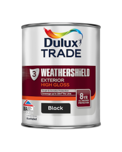 Dulux Trade Weathershield Exterior High Gloss Black 1L