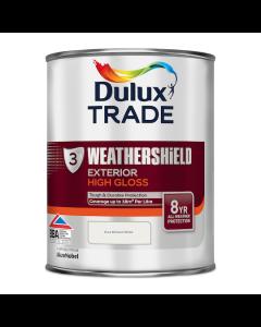 Dulux Trade Weathershield Exterior High Gloss Pure Brilliant White 1L