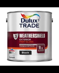 Dulux Trade Weathershield Exterior High Gloss Black 2.5L