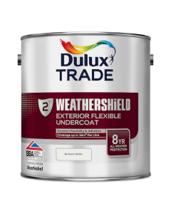 Dulux Trade Weathershield Exterior Undercoat Pure Brilliant White 2.5L