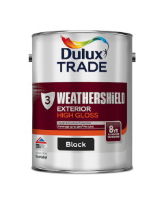 Dulux Trade Weathershield Exterior High Gloss Black 5L
