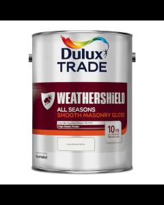 Dulux Trade Weathershield All Seasons Smooth Masonry Gloss Pure Brilliant White 5L