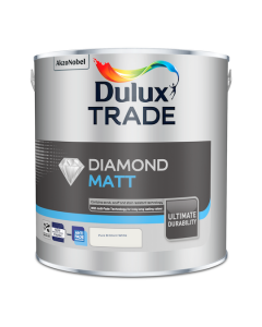 Dulux Trade Diamond Matt Emulsion Paint Pure Brilliant White 2.5L
