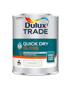 Dulux Trade Quick Dry Gloss Paint Pure Brilliant White 1L