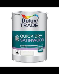 Dulux Trade Quick Dry Satinwood Paint Pure Brilliant White 5L