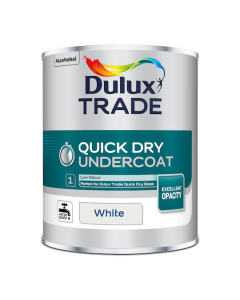 Dulux Trade Quick Dry Undercoat Paint White 1L