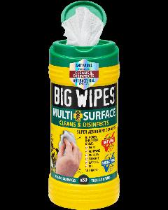 Big Wipes Multi Surface Bio Wipes Green Cap 80 Wipes