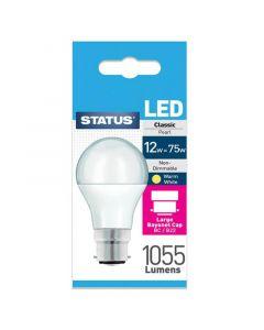 Status Bulb LED GLS BC B22 12W Pack of 4