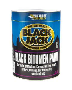 Everbuild Black Jack Bitumen Paint Black 2.5L