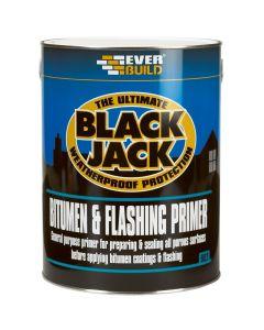 Everbuild Black Jack Bitumen Flashing Primer Paint Black 1L