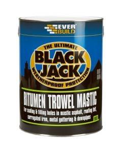 Everbuild Black Jack Bitumen Trowel Mastic Black 1L
