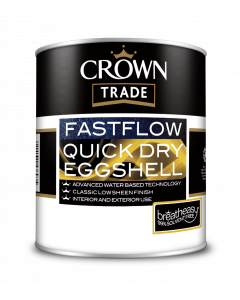 Crown Trade Fast Flow Quick Dry Eggshell White 1L