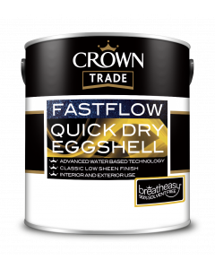 Crown Trade Fast Flow Quick Dry Eggshell White 2.5L