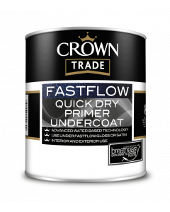 Crown Trade Fast Flow Quick Dry Undercoat White 1L