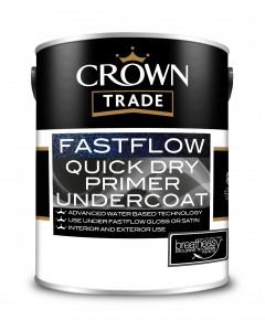 Crown Trade Fast Flow Quick Dry Undercoat White 5L