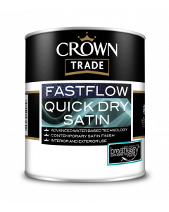 Crown Trade Fast Flow Quick Dry Satin White 1L