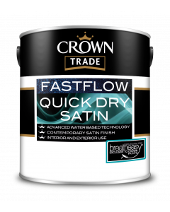 Crown Trade Fast Flow Quick Dry Satin White 2.5L