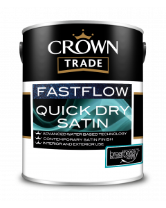 Crown Trade Fast Flow Quick Dry Satin White 5L