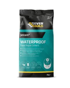 Everbuild Jetcem Waterproofing Rapid Setting Cement 3kg
