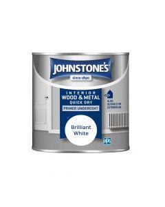 Johnstones Acrylic Quick Dry Primer Undercoat White 250ml