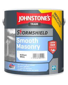 Johnstones Stormshield Smooth Masonry Brilliant White 2.5L