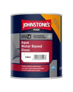 Johnstones Aqua Water Based Gloss Paint Black 1L