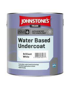 Johnstones Aqua Water Based Undercoat Paint Brilliant White 1L