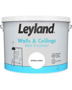 Leyland Matt Emulsion Paint Brilliant White 10L