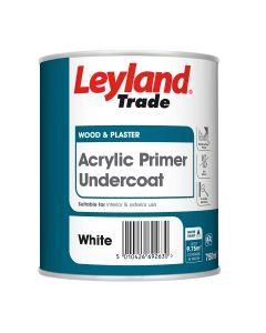 Leyland Trade Acrylic Primer Undercoat Paint White 750ml