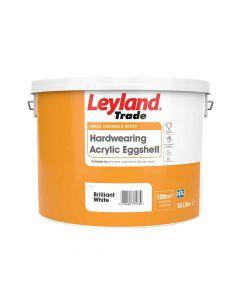 Leyland Trade Hardwearing Acrylic Eggshell Brilliant White 10L