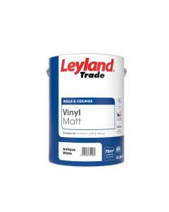 Leyland Trade Vinyl Matt Emulsion Paint Antique White 5L