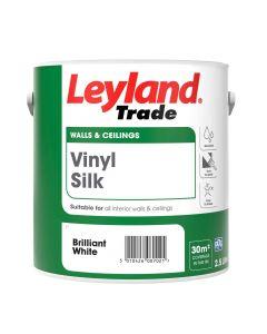 Leyland Trade Vinyl Silk Emulsion Paint Brilliant White 2.5L