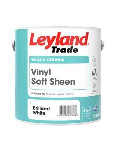 Leyland Trade Vinyl Soft Sheen Emulsion Paint Brilliant White 2.5L
