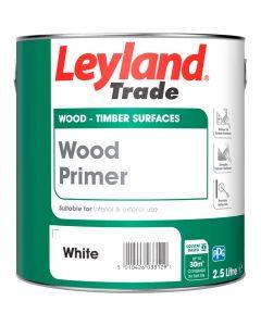 Leyland Trade Wood Primer Paint White 2.5L