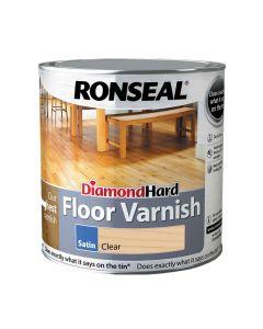 Ronseal Diamond Hard Floor Varnish Satin Clear 2.5L