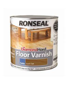 Ronseal Diamond Hard Floor Varnish Satin Dark Oak 2.5L