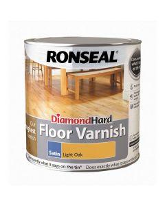 Ronseal Diamond Hard Floor Varnish Satin Light Oak 2.5L