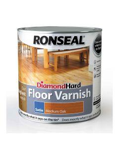 Ronseal Diamond Hard Floor Varnish Satin Medium Oak 2.5L