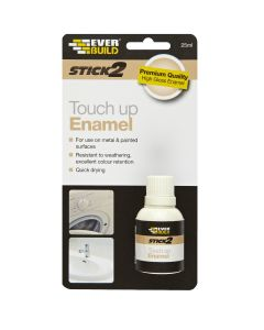 Everbuild Stick2 Touch Up Enamel Paint White 25ml