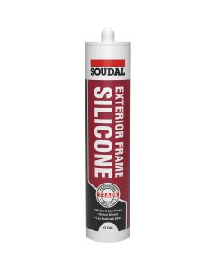 Soudal Exterior Frame Silicone Sealant Clear 270ml