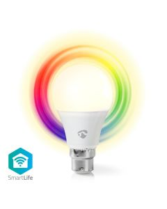Nedis LED Bulb WiFi Smart GLS B22 6w Colour