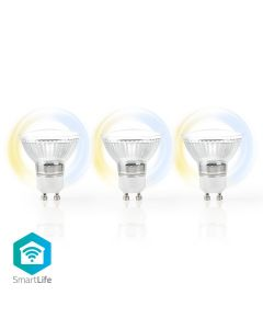 Nedis LED Bulb WiFi Smart GU10 4.5w White Pack of 3