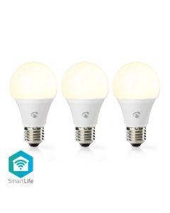 Nedis LED Bulb WiFi Smart GLS E27 9w White Pack of 3