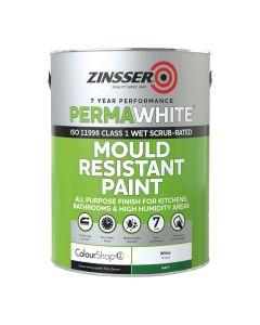 Zinsser Perma White Interior 2Ltr - Mould & Mildew Proof Paint White Matt