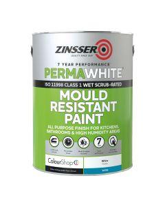 Zinsser Perma White Interior 2.5Ltr - Mould & Mildew Proof Paint White Satin